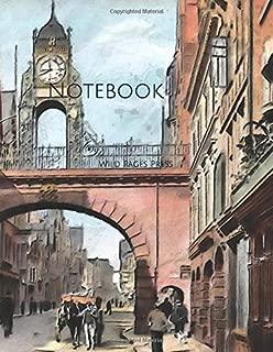 Notebook: Eastgate Street Chester Vintage United Kingdom England Street Market