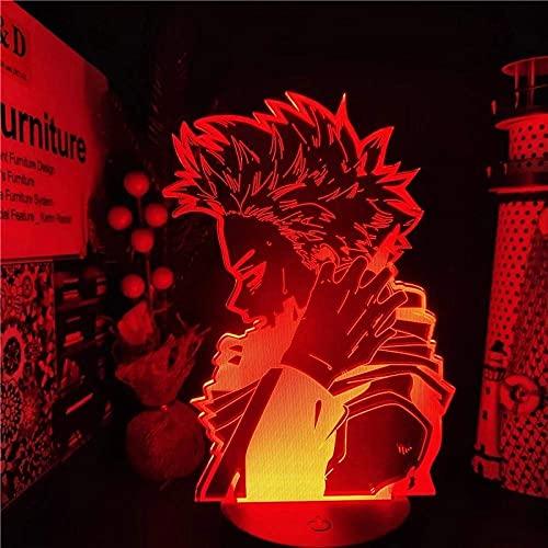 Anime My Hero Academia Hitoshi SHINSO Lámpara Cool 3D Ilusión Luz de noche Decoración del hogar Acrílico Luz LED Lámpara de regalo de cumpleaños 16 colores