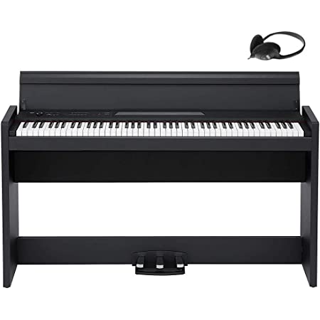 【Amazon.co.jp限定】KORG コルグ 電子ピアノ 88鍵盤 LP380 USB ブラック 黒 電子ピアノ部門最優秀賞を受賞したKORGによる人気商品 温かみを感じる木製 純正ヘッドフォンとペダルが付属