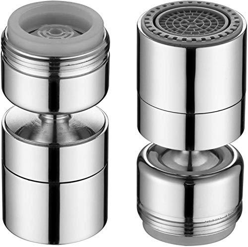 M24 360 Grad Wasserhahn Strahlregler Aufsatz Wassersparer für Wasserhahn-Luftsprudler, Wassersparender Siebstrahlregler für Bad Küchenarmatur Düse Filter Adapter (M24)