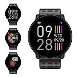 Fitness Armband, LIFEBEE Smartwatch Wasserdicht Smart Watch Fitness Tracker Uhr mit 1.3 Zoll Farbbildschirm, Damen Herren Armbanduhr Pulsmesser SMS Beachten Sportuhr für Android iOS