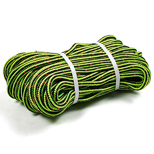 Perantlb 16 Strand Arborist Climbing Rope, UV Resistant and Weather Resistant Double Braided Boat rope1 / 2'by 150 'Black with Green