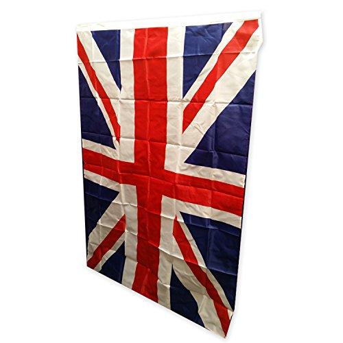 Union Jack Flagge - 152 x 91 Zentimeter / für Innen oder Außen / Britische Andenken aus London England UK