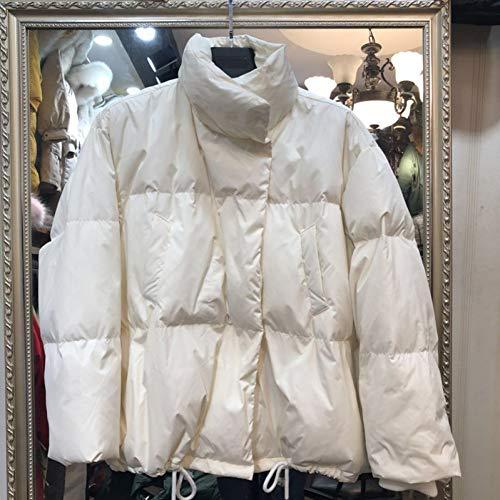 RCFRGV Chaqueta de Plumas Mujer Chaqueta de Plumas de Ganso Tallas Grandes Abrigo con Cremallera cálida Ropa de Color sólido de Moda Ropa de Invierno de Gran tamaño
