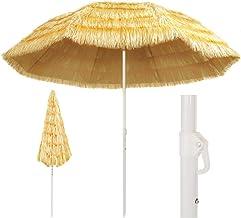 vidaXL Strandscherm natuur Hawaii parasol tuinscherm 180/240/300cm