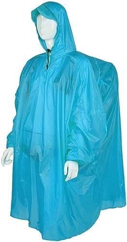 SCJ Imperméable, imperméable en Plein air, Sac à Dos d'une Seule pièce, Hommes et Femmes, Poncho, randonnée, randonnée, imperméable Ultra-léger (Couleur  Bleu)