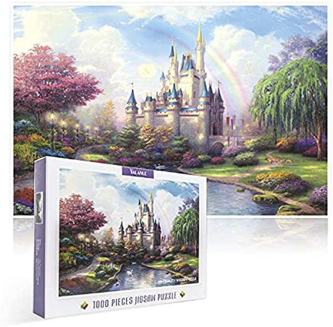 Jigsaw Puzzles 1000 Pieces for Adults,YALANLE Wooden Puzzle with a Large Poster Fantasy