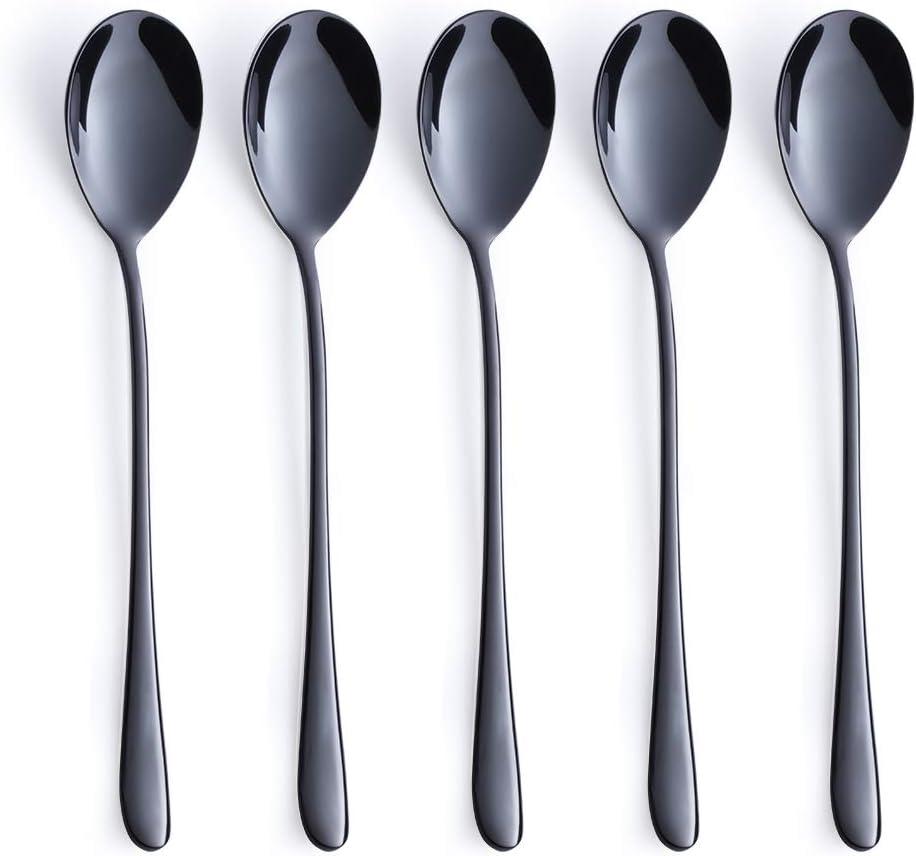 Gold Dinner Fork Set 5 Piece 18//10 Stainless Steel Korean Tableware Mirror Finish Dishwasher Safe 8.43 Inches