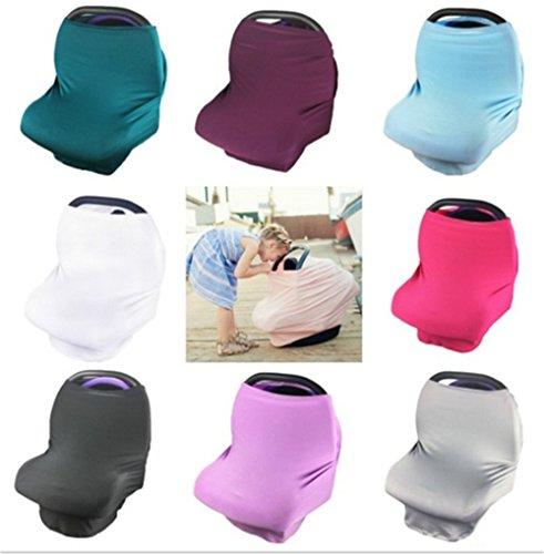 5 Couleur 4 en 1 Housse de siège auto pour bébé Ciel d'allaitement Écharpe d'allaitement couvertures