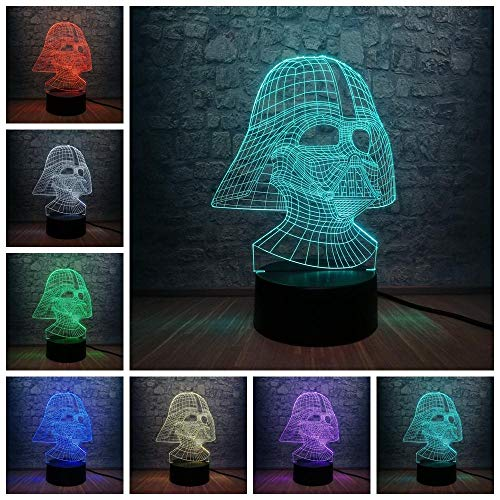 3D Illusion Light Optische Led Nachtlicht Neuheit Vida Dark Warrior 3D Nachtlicht Led Nachttisch Licht Weihnachten Geburtstag Bestes Geschenk