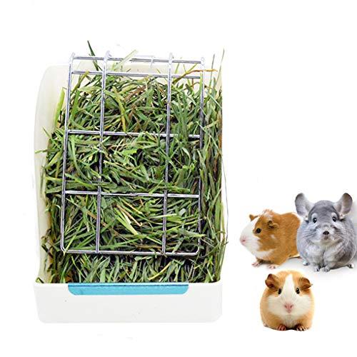 STKYGOOD Rabbit Feeder Bunny Guinea Pig Hay Feeder,Hay Guinea Pig Hay Feeder,Chinchilla Plastic Food Bowl (White-A)