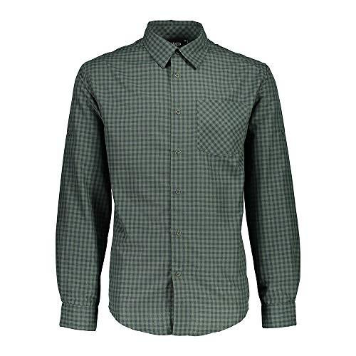 CMP T-Shirt à Manches Longues pour Homme avec Technologie Dry Function, Motif Jungle, 56