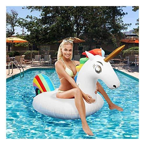 ZGF Flotador Inflable De La Piscina Unicornio, Flotadores De La Playa, Juguetes De La Fiesta De Natación, Salón De La Balsa De La Piscina De Verano para Adultos Y Niños