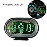 Digital Auto Thermometer Uhr MultifunktionTemperatur Voltmeter thermometer Elektronische Wecker Messgerät