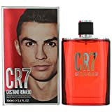 Cristiano Ronaldo CR7 Eau de Toilette Spray for Man, 3.4 Ounce, Red