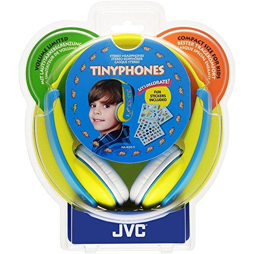 JVC TINYPHONES HA-KD5-Y-E Casque Audio pour Enfant avec Limiteur de Volume - Jaune
