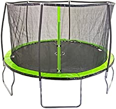 Sportspower Heavy Duty Outdoor Trampoline with Steelflex Enclosure Net and Poles - Meets or Exceeds ASTM Standards