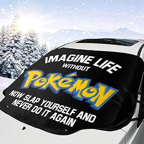GOSMAO Imagine Life Without Mon-ster of The Pocket Now Slap Yourself Cubierta de Nieve para Parabrisas de automóvil, Parasol de eliminación de Hielo, Apto para automóviles universales