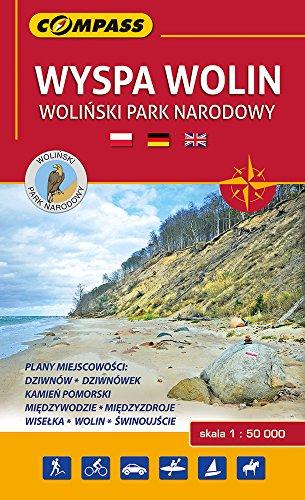 Wyspa Wolin Wolinski Park Narodowy mapa turystyczna 1:50 000