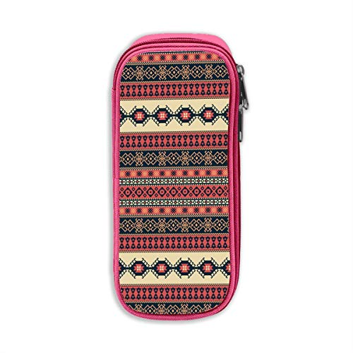 Bohemian Art Tribal Unisex Oxford Doek Potlood Kantoor School Bureau Potloodzak met Rits Eén maat roze