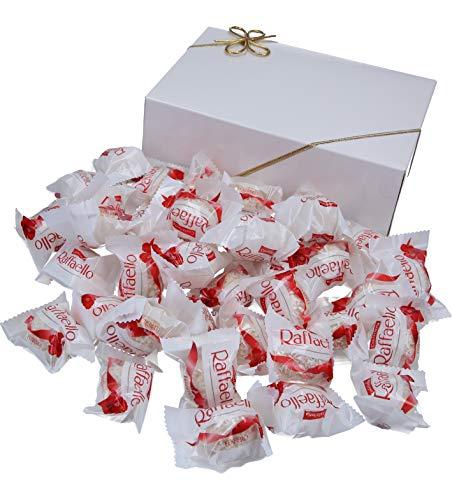 400g Raffaello (ca. 38 Stück) in VonBueren Geschenkverpackung, wiederverwendbar (Klappschachtel weiß)