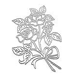 yinuiousory Rose Stanzschablonen Stanzform Für Grußkarten Selbstgemachtes Stempel, Silikonstempel,...