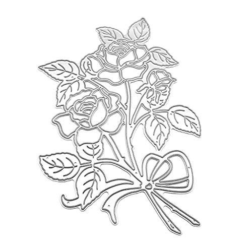 yinuiousory Rose Stanzschablonen Stanzform Für Grußkarten Selbstgemachtes Stempel, Silikonstempel, Clearstempel Stanzschablonen Für DIY Postkarte, Umschlag, Dekoration(580)