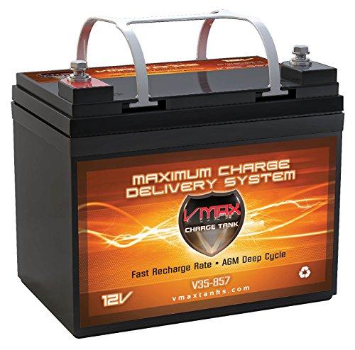 VMAX857 AGM Battery 12 Volt 35AH Marine Deep...