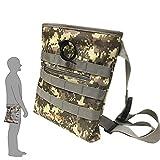 shrxy Bolsa con cordón para excavador de buscar/suerte, camuflaje combo recoger bolsillos de cintura para detección de metales de caza del tesoro