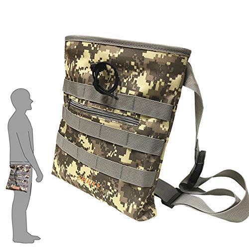 shrxy Baggertasche mit Kordelzug, Find-/Glückstasche, Camouflage-Kombination, Taillentaschen für Metalldetektierung, Schatzsuche
