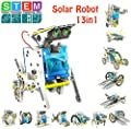 STEM 13-in-1 Education Solar Robot Kits Toys -DIY Building Science Experiment Kit for Kids Robotics Kits Solar Powered by The Sun for Kids Aged Boys and Girls 6 7 8 9 10 11 12 and Older Gift Idea