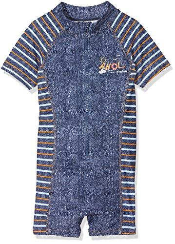 Playshoes jongens UV-bescherming 1-delig Ahoi zwemshorts, blauw (jeansblauw 3), 122 (fabrikantmaat: 122/128)