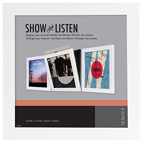 Easy Change Frame Show & Listen Schallplattenrahmen, Frame für Vinyl und LP-Cover, weiß, einzeln