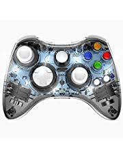 PAWHITS Xbox 360 コントローラー 無線 ワイヤレスコントローラー ゲームパッド ジョイスティック イヤホンジャック(ブラック)