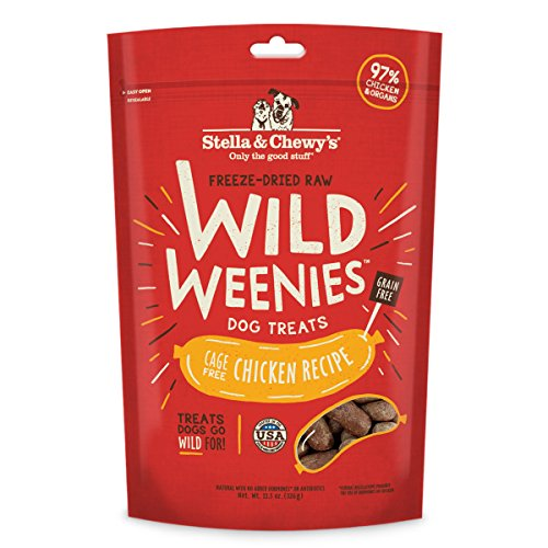 Stella and Chewy's Freeze-Dried Wild Weenies Chicken Treats for Dogs 11.5 Ounce