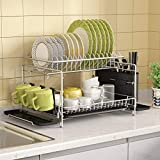 Best Dish Drainers - Dish Drying Rack, 1Easylife 2 Tier Large Kitchen Review