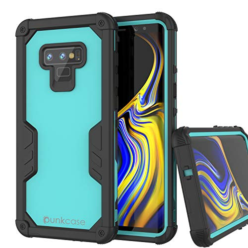 Punkcase Galaxy Note 9 Waterproof Case [Navy Seal Extreme Series] [Slim Fit] [IP68 Certified] [Shockproof] [Dirtproof] 360 Full Body Armor Cover Compatible with Samsung Galaxy Note 9 [Teal]