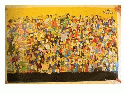 The Simpsons Poster All Characters With some quotes