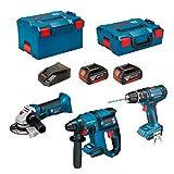 BOSCH Kit PSL3P3 (GBH 18 V-EC + GSB 18V-21 + GWS 18-125 V-LI + 2 x 5,0Ah + GAL18V-40 + L-Boxx 238 + L-Boxx 136)