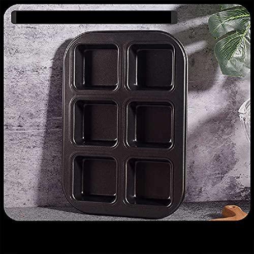 N\C Molde cuadrado de mini torta de pan para hamburguesas, antiadherente, horno para hornear con 12 rejillas de 35,3 x 26,5 x 2,5 cm), color negro