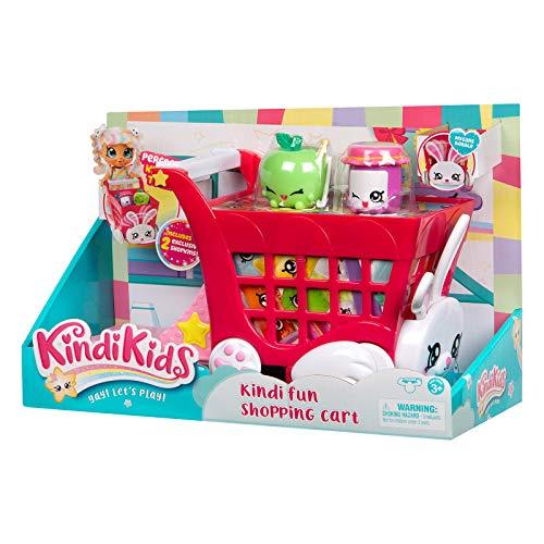 Kindi Kids Rabbit PetkinShopping Cart and 2 Shopkins, Multi-Colou