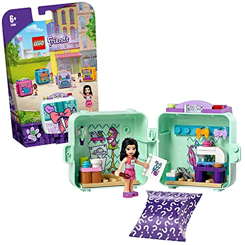 LEGO 41668 Friends Emma's Fashion Cube Play Set, Collectible Portable...