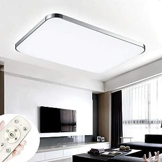 COOSNUG Luces de techo 72W Lámpara de techo ultradelgada LED ultradelgada Lámpara de la sala de estar del dormitorio moderno de la cocina (Plata regulable 3000-6500K)