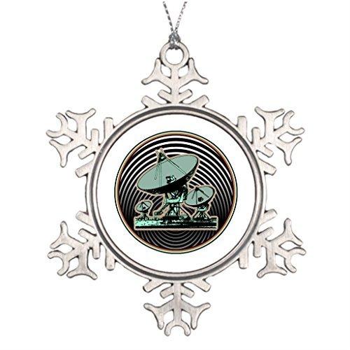 Christmas gift Best Friend Snowflake Funny Ornaments Satellite Dish Emblem Communication Office Decor