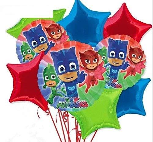 PJ Masks Assorted Mylar Balloons - Set of 9