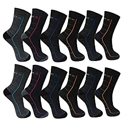 BestBuy Shop 6 | 12 pairs of men's thermal socks - super soft and warm - for winter, sports and work - high cotton content - Designed in Germany - size 39-42 | 43-46 (43-46, variant 1)