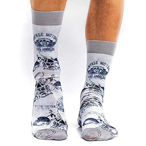 Wigglesteps Men Socks Vintage Motors,one Size 41-46
