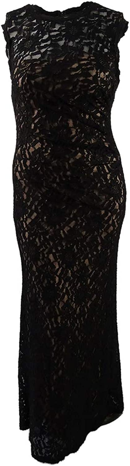 X by Xscape Womens Lace FullLength Evening Dress