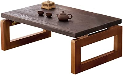 Fly® Nordic Small Table, Solid Wood Square Coffee Table, Living Room Decorated Low Table, Bedroom Laptop Table, Multi-Size Optional (Color : B, Size : 80x50x30CM)