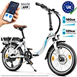 Bluewheel Bicicleta eléctrica de 20 Pulgadas Plegable 14,4/16Ah -Marca de Calidad Alemana- Pedelec Conforme a Normas EU,...